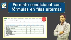 Formato condicional con formulas en filas alternas